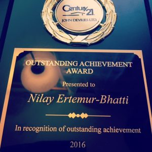 Nilay Ertemur Century 21 Outstading Achievement Award